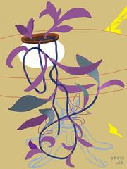 080112 Purple Leaves in Anne's Living Room