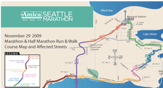 Seattle Marathon on Sunday means a good day to walk (or run) on ...