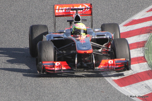 Sergio Perez in the McLaren at Formula One Winter Testing, March 2013