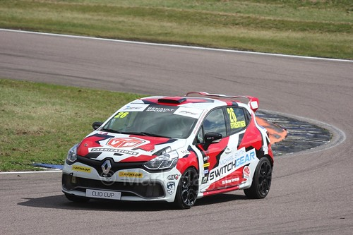 Paul Streather in the Clio Cup at Rockingham, August 2016