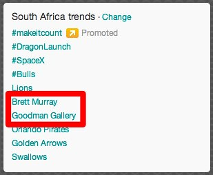 Twitter - Zuma Spear trending