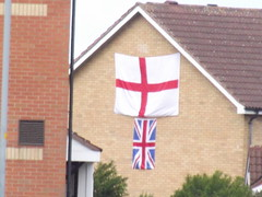 Oldbury Road, Smethwick - England and UK flags