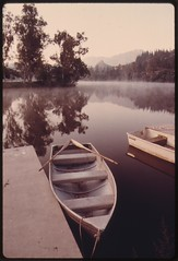 Early morning at Malibu Lake in the Santa Moni...