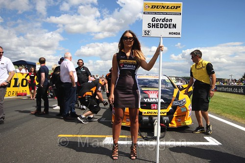 Gordon Shedden's car during the Grid Walks at the BTCC 2016 Weekend at Snetterton