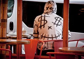Cool Dollar Sign Hoodie at Café des 2 Moulins ...