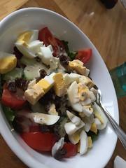 Garden salad with hard boiled eggs #naturallyglutenfree #gf #glutenfree