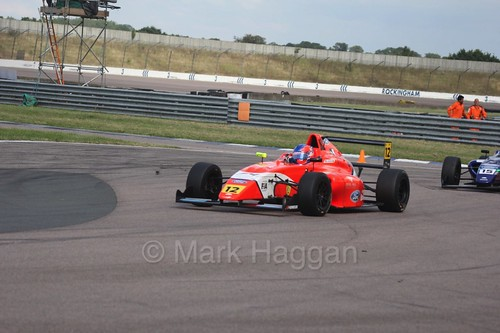 Ayrton Simmons in British F4 at Rockingham, August 2016