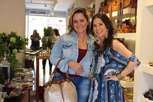 A sempre chiquérrima Janice Quintão com Alessandra Nogueira