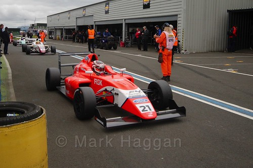 Rafael Martins after British Formula Four race 2 during the BTCC Knockhill Weekend 2016
