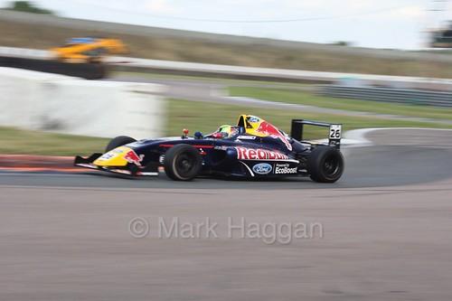Luis Leeds in British Formula Four at Rockingham, August 2016