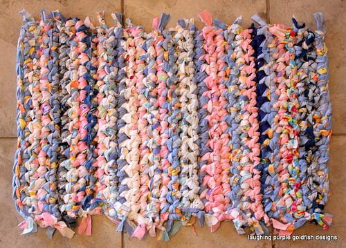 home bath crochet mat flannel rug flannelette