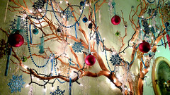 branch, Christmas ornaments, broken tradition, haibun, ligo haibun, haiku, holiday