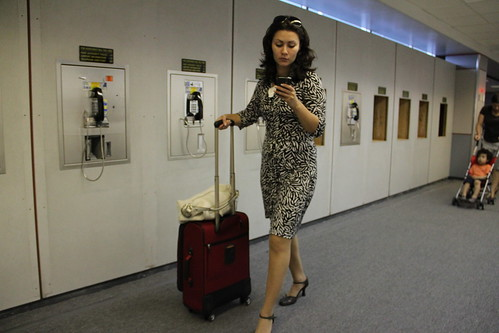 Business Traveller, and airport phones by MattHurst, on Flickr