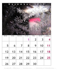 calendar -  November 2012