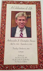 Program #memorial for Ambassador J Christopher...