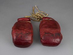 Boxing Gloves worn by Bunny Johnson signed by ...