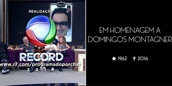 """Programa do Porchat"" presta homenagem a Domingos Montagner"