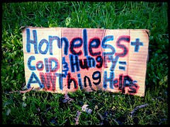Abandoned Homeless Sign
