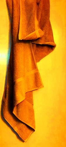 abstract yellow towel fabric cloth