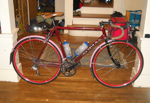 bicycle soma speedster randonneur 700c randonneuse somaspeedster paintasmallpartofthetownred