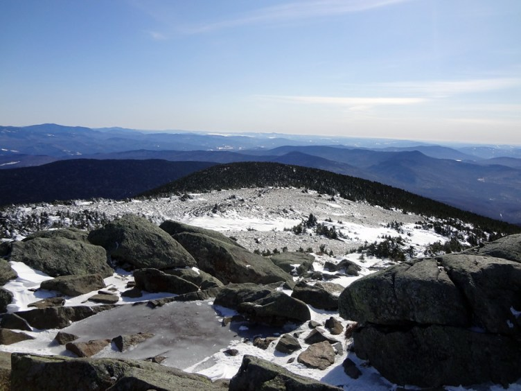 Mt. Moosilauke Summit East View on the Appalachian Trail in New Hampshire White Mountains