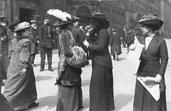 Suffragettes in Bow Street