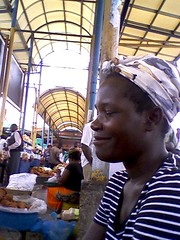 Woman Selling Dondo City Markets Lusaka