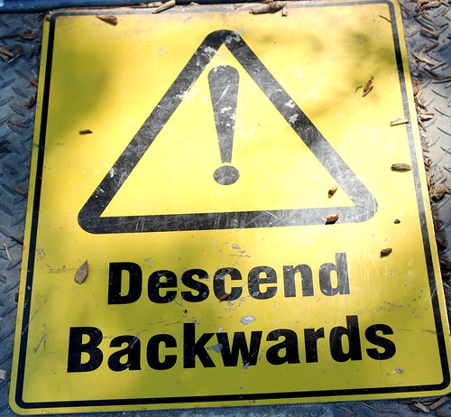 Descend Backwards sign by Arthur Chapman, on Flickr