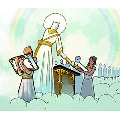 "Digital illustration for short the story: ""Christ the Editor"""