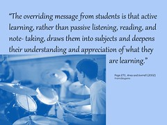 """The overriding message from students is that ..."