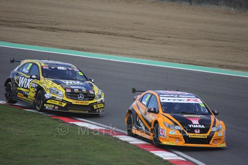 Gordon Shedden and Adam Morgan during the BTCC Brands Hatch Finale Weekend October 2016