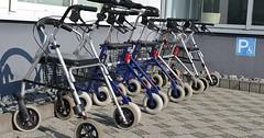 """Der Rollator. Die Rollatoren. Hier sind viele Rollatoren geparkt. • <a style=""""font-size:0.8em;"""" href=""""http://www.flickr.com/photos/42554185@N00/30130077802/"""" target=""""_blank"""">View on Flickr</a>"""