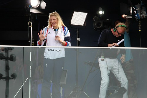 Becky Addlington & Chris Evans at the Olympic Park