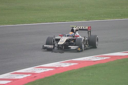 Esteban Gutiérrez in his Lotus GP2 car at Silverstone