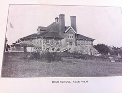 Photo of a photo of the Petersham High School