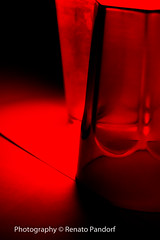 Red glass lit into green