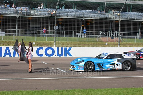 The Ginetta GT4 Supercup Grid at Rockingham, 2016