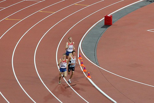 Paul Blake of Team GB in the final of the T36 men's 800m at the London 2012 Paralympic Games