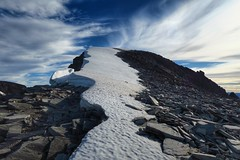 The final push towards the summit