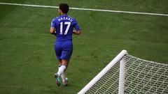 Eden Hazard jogs over to the corner