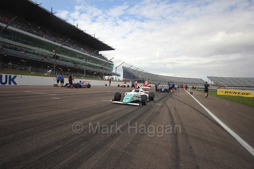 Billy Monger on the British F4 grid at Rockingham, August 2016