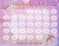 NaNoWriMo Calendar 2012 No Telling C