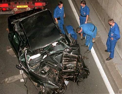 O carro depois do acidente