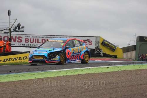 Andrew Jordan in race two in BTCC at Knockhill, August 2016
