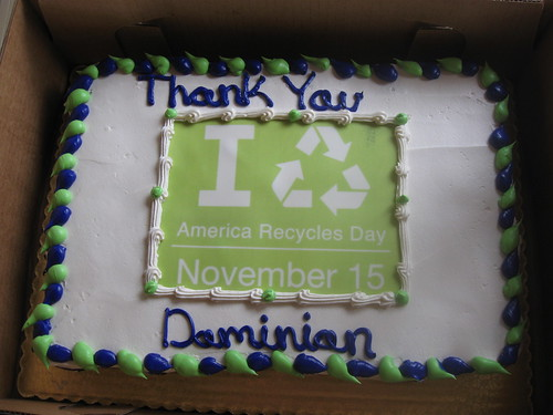 America Recyles Day cake