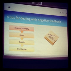 Four tips for dealing with negative feedback f...