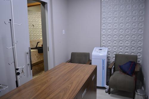 Sala da esteticista, onde são aplicados os soros  de um dos tratamentos