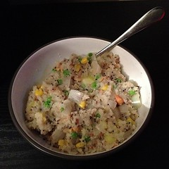 """My first attempt at making upma, and it's delicious. • <a style=""""font-size:0.8em;"""" href=""""http://www.flickr.com/photos/44423534@N00/8294536972/"""" target=""""_blank"""">View on Flickr</a>"""