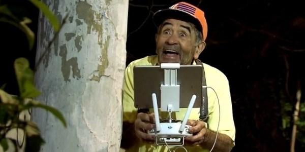 """Pegadinha de Ivo Holanda com drone quase deu errado: """"Bruxa caiu em mim"""""""