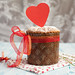 Saint Valentine's cake with red heart (panettone)